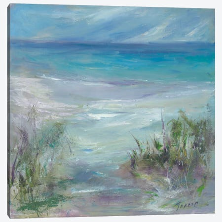 Blue Horizons Canvas Print #TOC15} by Tracy Owen-Cullimore Canvas Wall Art