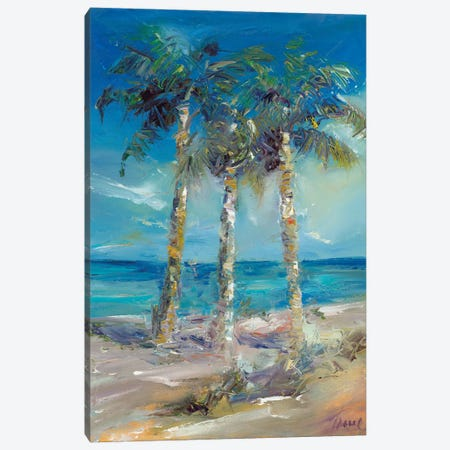 Three's Company Canvas Print #TOC27} by Tracy Owen-Cullimore Art Print