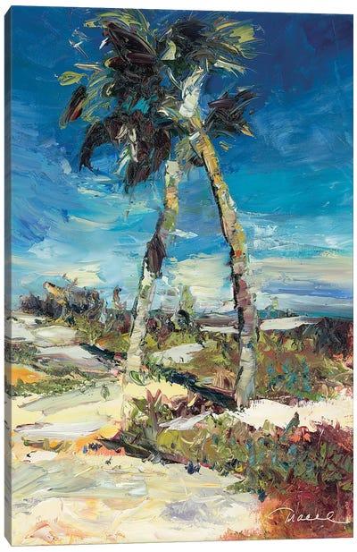 Twin Palm Canvas Art Print