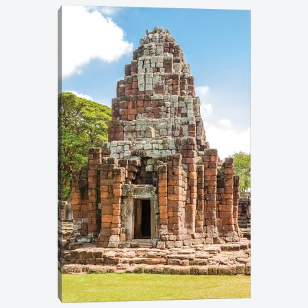Thailand. Phimai Historical Park. Ruins of ancient Khmer temple complex. Canvas Print #TOH7} by Tom Haseltine Canvas Print