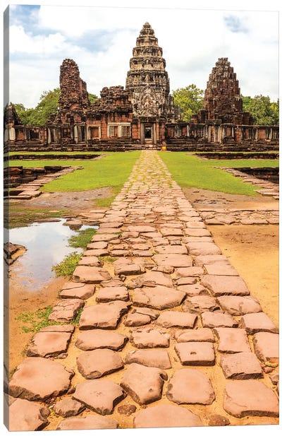 Thailand. Phimai Historical Park. Ruins of ancient Khmer temple complex. Central Sanctuary. Canvas Art Print