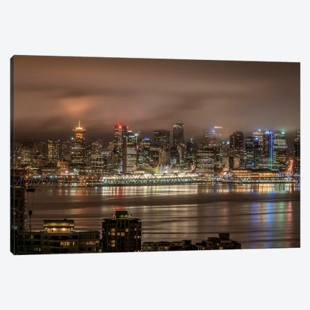 Vancouver Night Canvas Print #TOL10} by Tim Oldford Canvas Art