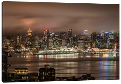 Vancouver Night Canvas Art Print