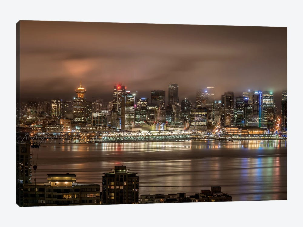 Vancouver Night by Tim Oldford 1-piece Canvas Art