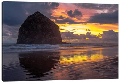 Cannon Beach Sunset Canvas Art Print