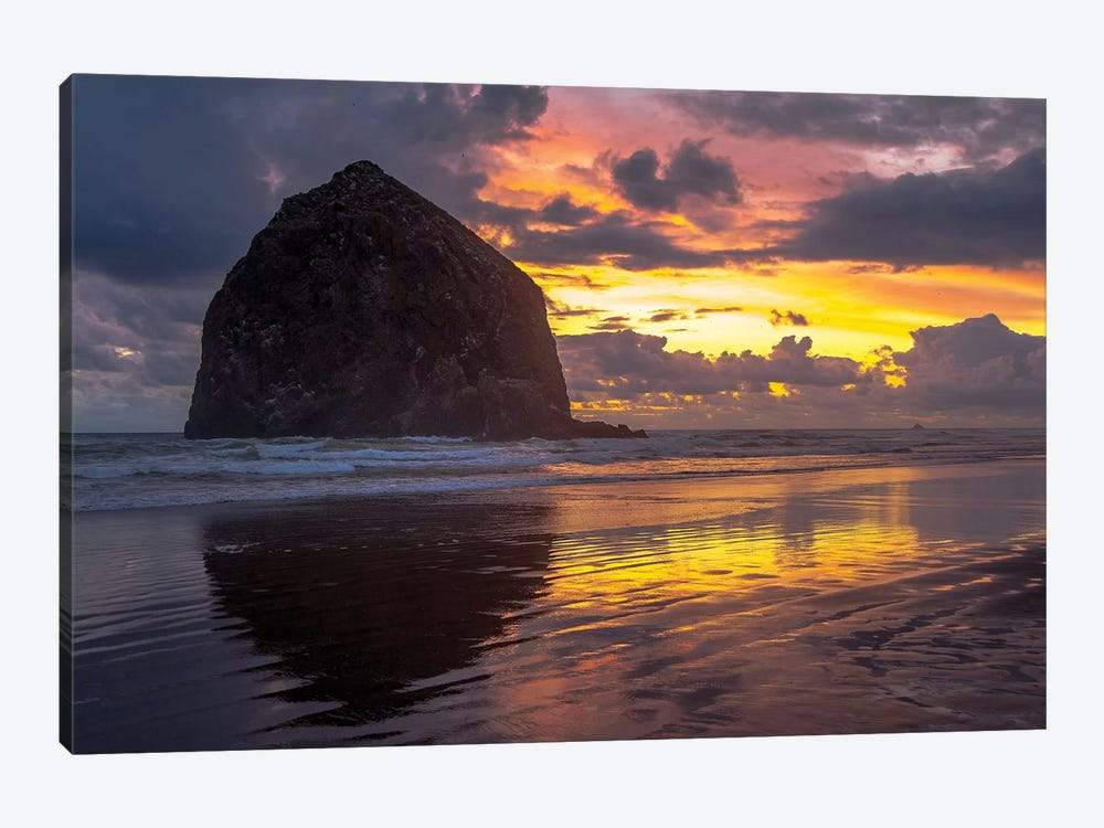 Cannon Beach Sunset by Tim Oldford 1-piece Art Print