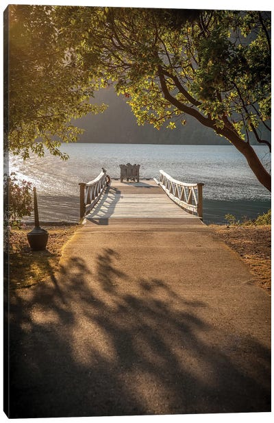 Crescent Lake Pier Canvas Art Print