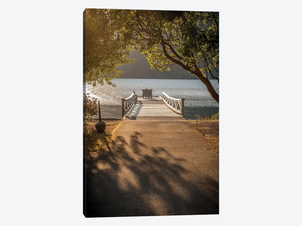 Crescent Lake Pier by Tim Oldford 1-piece Art Print
