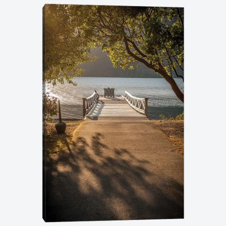 Crescent Lake Pier Canvas Print #TOL2} by Tim Oldford Canvas Art