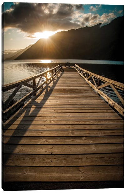 Crescent Lake Sunset Canvas Print #TOL3