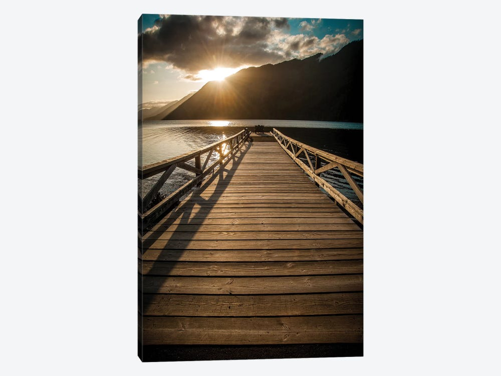 Crescent Lake Sunset by Tim Oldford 1-piece Canvas Artwork