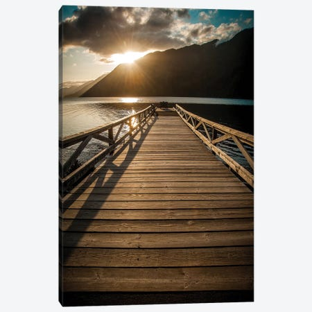 Crescent Lake Sunset Canvas Print #TOL3} by Tim Oldford Canvas Wall Art
