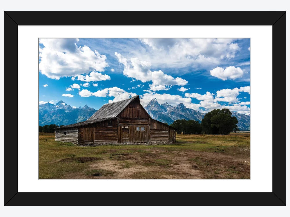Grand Teton Barn I Framed Print By Tim Oldford Icanvas