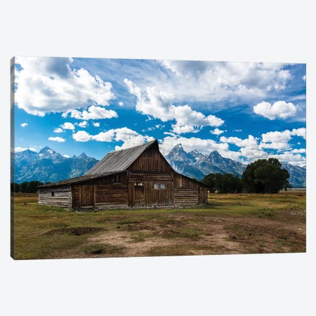Grand Teton Barn I Canvas Print #TOL7} by Tim Oldford Canvas Art Print