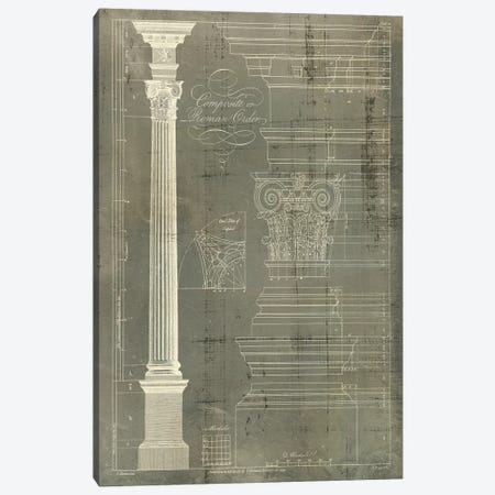 Column Blueprint I Canvas Print #TON1} by Thomas Sheraton Canvas Art