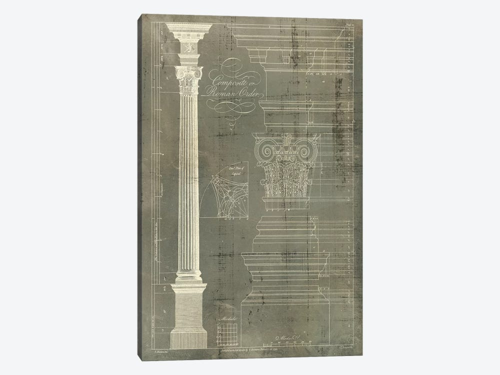 Column Blueprint I by Thomas Sheraton 1-piece Canvas Art