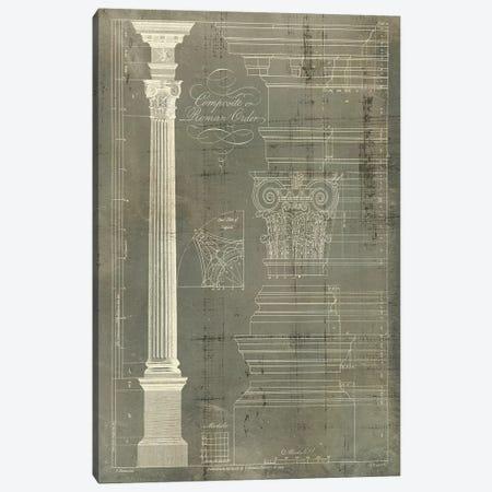 Column Blueprint I Canvas Print #TON1} by Thomas Sheraton Canvas Art
