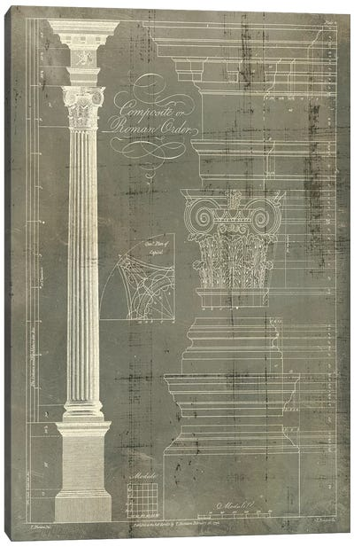 Column Blueprint I Canvas Art Print