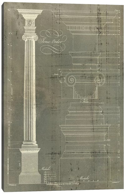 Column Blueprint II Canvas Art Print