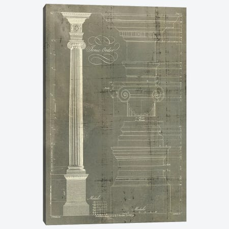 Column Blueprint II Canvas Print #TON2} by Thomas Sheraton Canvas Wall Art