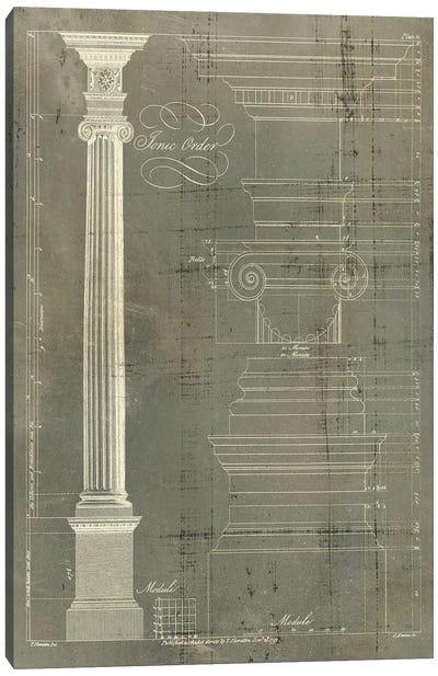 Column Blueprint II Canvas Art Print