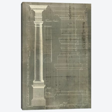 Column Blueprint III Canvas Print #TON3} by Thomas Sheraton Canvas Artwork