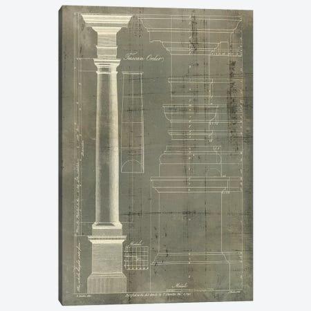 Column Blueprint III Canvas Print #TON3} by Thomas Sheraton Canvas Artwork