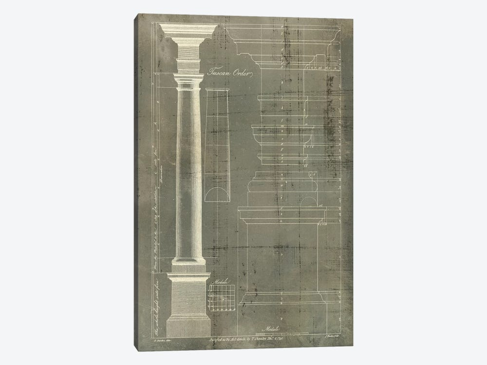 Column Blueprint III 1-piece Canvas Art