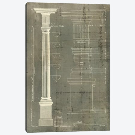 Column Blueprint IV Canvas Print #TON4} by Thomas Sheraton Art Print