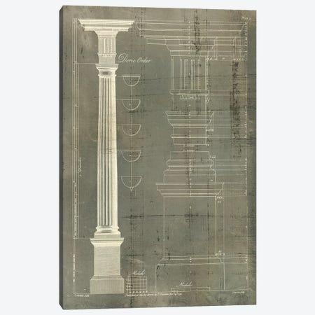 Column Blueprint IV Canvas Print #TON4} by Thomas Sheraton Art Print