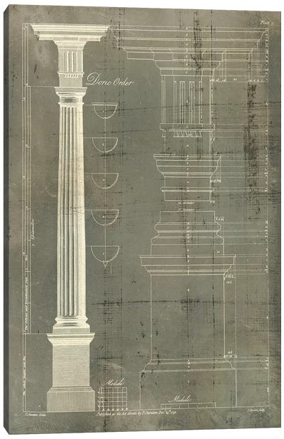 Column Blueprint IV Canvas Art Print