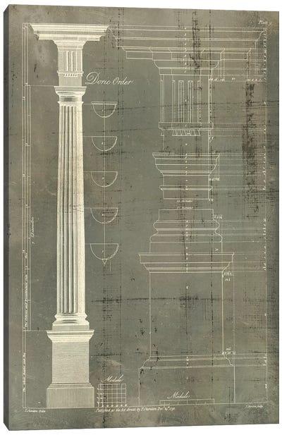 Column Blueprint IV Canvas Art Print