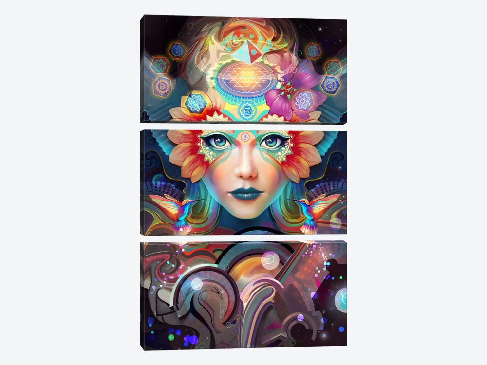 Know Higher Worlds 3-piece Canvas Art Print