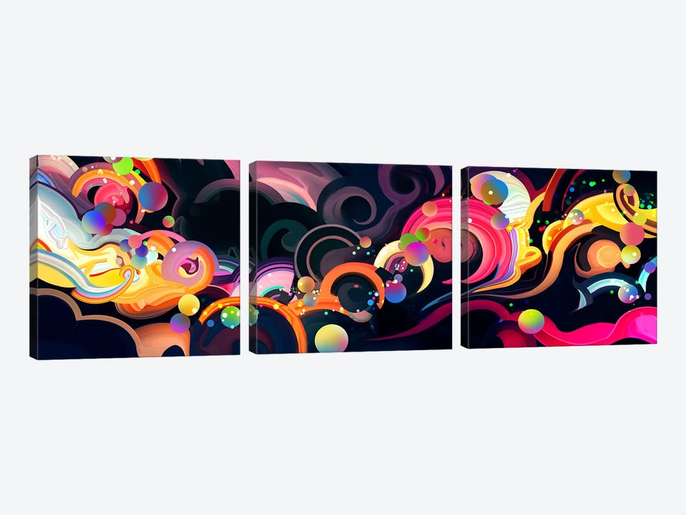 Moonflow by Alex Tooth 3-piece Canvas Print