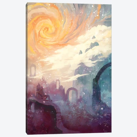 Niflheim Canvas Print #TOO14} by Alex Tooth Canvas Artwork