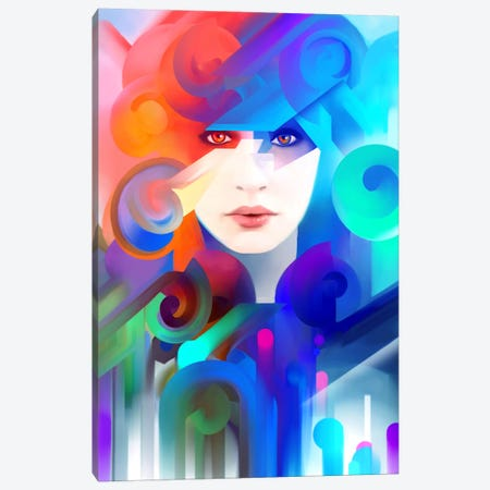 Silk Canvas Print #TOO20} by Alex Tooth Canvas Artwork