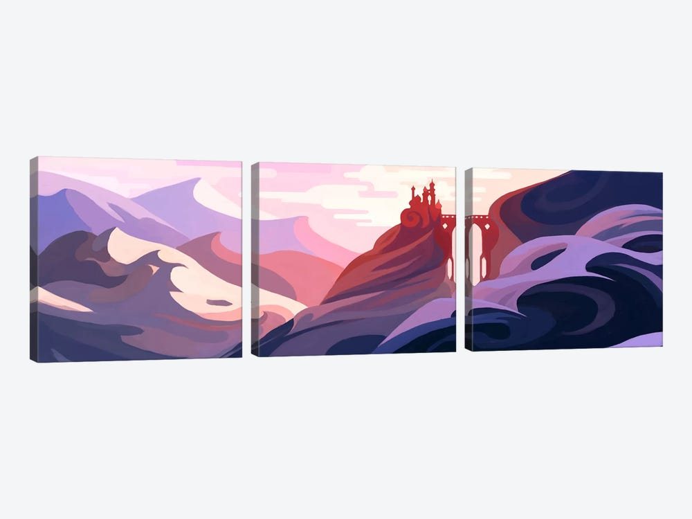 Snow Mountain by Alex Tooth 3-piece Canvas Print