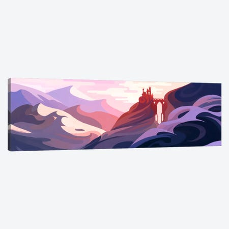 Snow Mountain Canvas Print #TOO22} by Alex Tooth Canvas Art