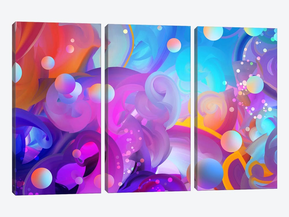 Subaqeous by Alex Tooth 3-piece Canvas Art Print