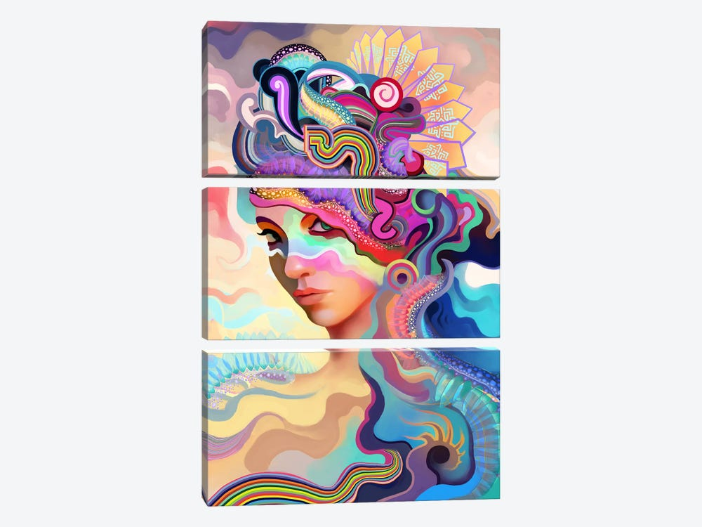 Summer by Alex Tooth 3-piece Canvas Artwork