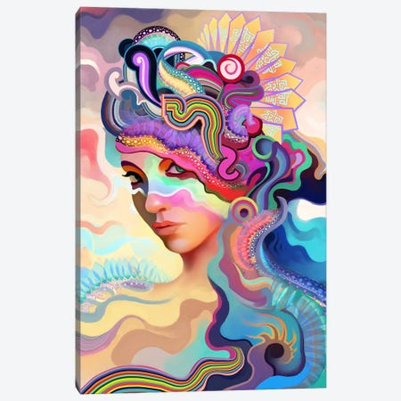 Summer Canvas Print #TOO25} by Alex Tooth Art Print
