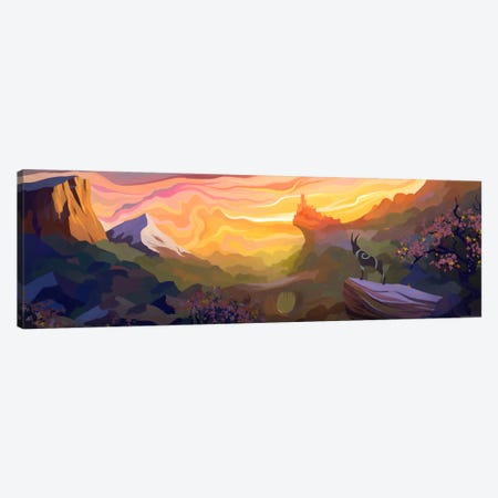 Valley Of The Sun Canvas Print #TOO26} by Alex Tooth Canvas Print