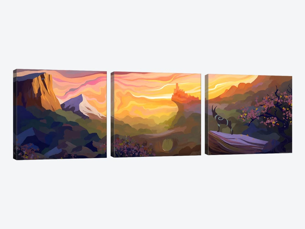 Valley Of The Sun by Alex Tooth 3-piece Canvas Art Print