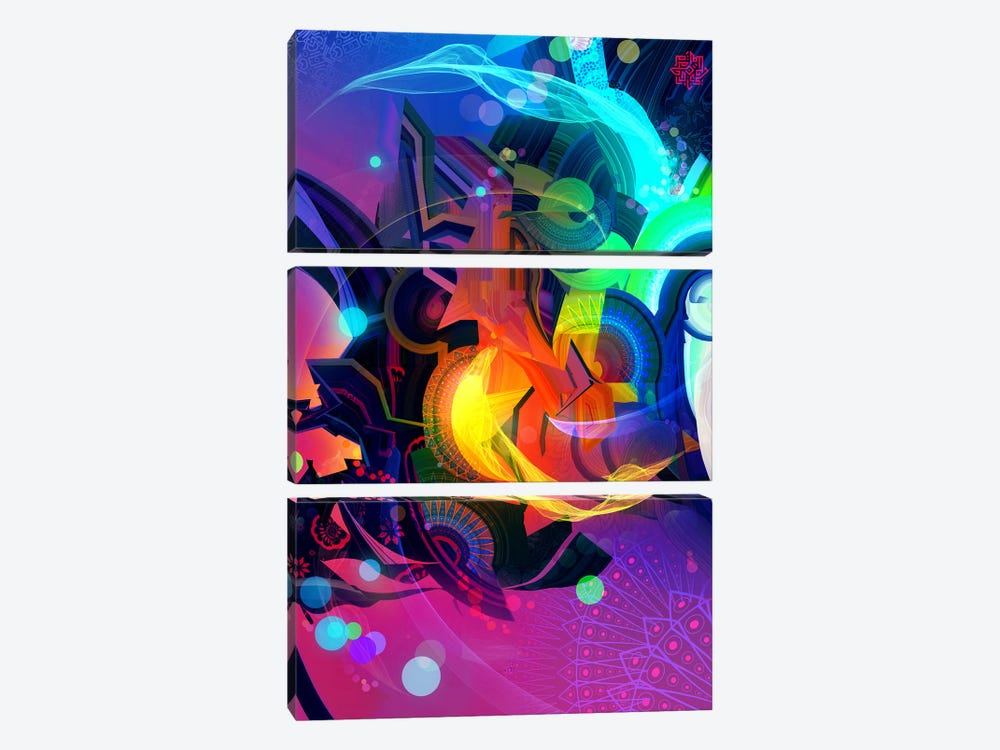 Vortex by Alex Tooth 3-piece Canvas Wall Art