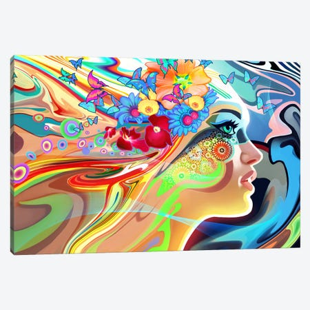 Wonder Canvas Print #TOO28} by Alex Tooth Canvas Artwork