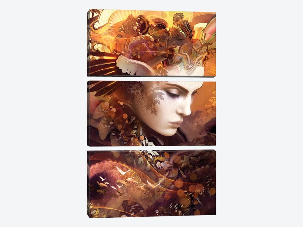 Autumn by Alex Tooth 3-piece Canvas Wall Art