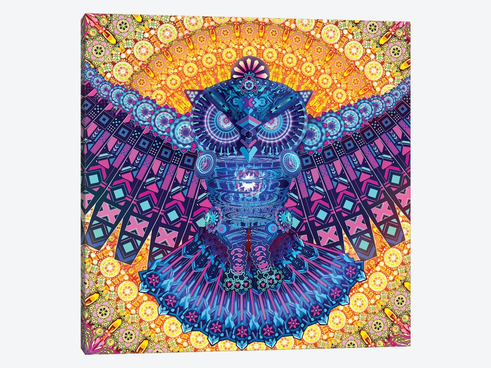 Bright Owl by Alex Tooth 1-piece Canvas Wall Art