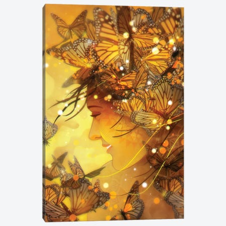 Her Smile Canvas Print #TOO35} by Alex Tooth Canvas Art