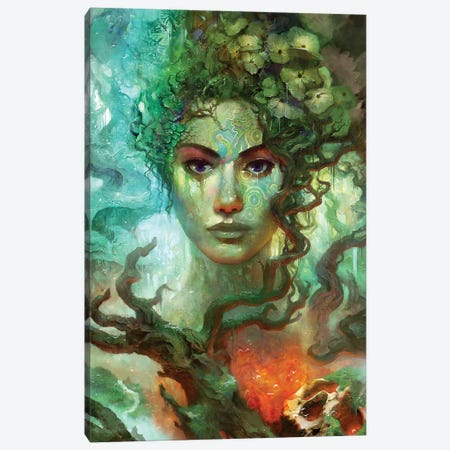 Rebirth II Canvas Print #TOO36} by Alex Tooth Canvas Artwork
