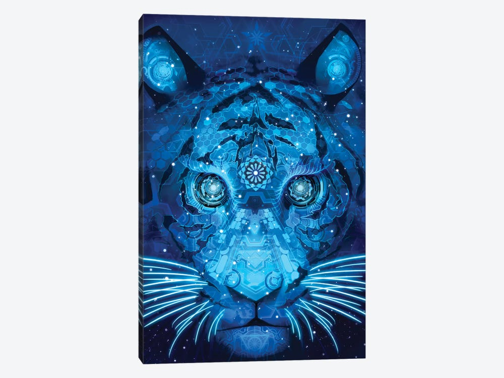 Tech Tiger by Alex Tooth 1-piece Canvas Print